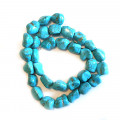 Reconstituted Turquoise Nugget Beads