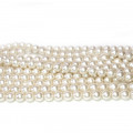 Shell Pearl Ivory 6mm Round Beads