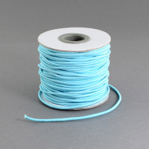 Light Blue Elastic Cord 2mm Round 40m Roll