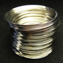 Stainless Steel 1mm Memory Wire 5.5cm wide, ~60 circles.