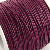 Purple Waxed Cotton Cord 1mm 74M Roll