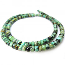 African Turquoise  2x4mm Rondelle Beads