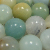 Multicolour Amazonite 6mm Round Beads