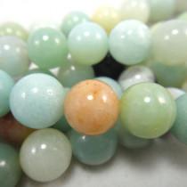 Multicolour Amazonite 8mm Round Beads
