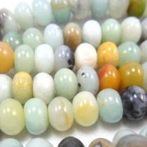 Multicolour Amazonite Rondelle Beads