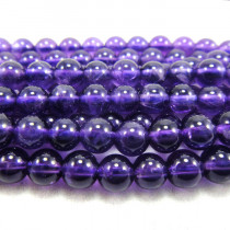 Amethyst 4mm Round Beads