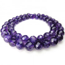 Amethyst 8mm Faceted Beads