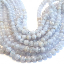 C-Grade Blue Lace Agate 6mm Round Beads