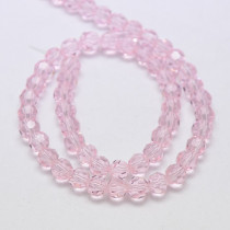 Misty Rose 8mm Faceted Round Glass Beads