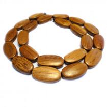 Bayong Flat Oval Wood Beads