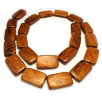 Bayong Flat Rectangle Wood Beads