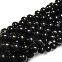 Black Tourmaline 6mm Round Beads