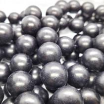 d Black Wood 20mm Round Beads