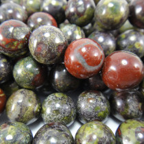 dragon blood jasper  10mm Round Beads