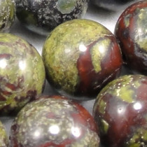 Dragon Blood Jasper 8mm Round Beads