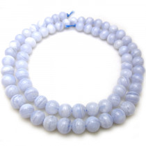 Blue Lace Agate 6mm Round Beads