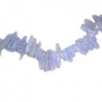 Blue Lace Agate Long Chip Beads