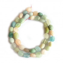 Mixed Beryl Matte Nugget Beads