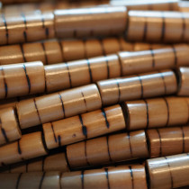 Bamboo Beads Burned Stripe 7mm