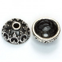Tibetan Silver 10x15mm Bead Caps (Pack 20)