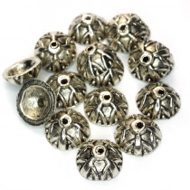 Tibetan Style Bead Caps 9mm (Pack 20)
