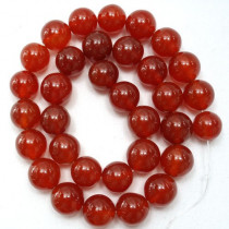 Carnelian 12mm Round Beads