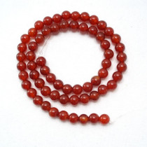 Carnelian 6mm Round Beads