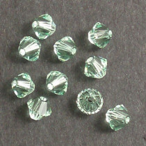 Swarovski® 4mm Chrysolite Bicone Xilion Cut Beads (Pack of 10)