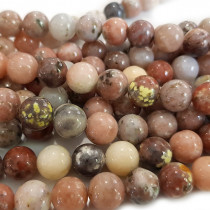 Cherry Blossom Jasper 10mm Round Beads