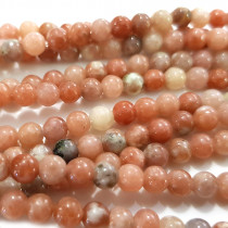 Cherry Blossom Jasper 4mm Round Beads