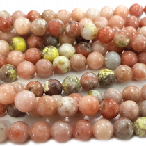 Cherry Blossom Jasper 6mm Round Beads