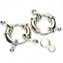 Brass Spring Clasp 15mm Round (Pack 2)