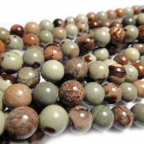 Coffee Bean Jasper 10mm Round Beads