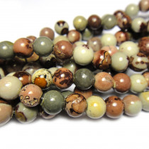 Coffee Bean Jasper 6mm Round Beads