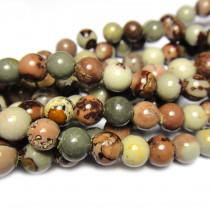 Coffee Bean Jasper 6mm Round Beads