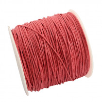 Coral Waxed Cotton Cord 1mm 90M Roll