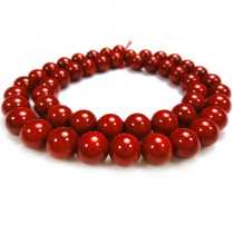 Red Coral 8mm Round Beads