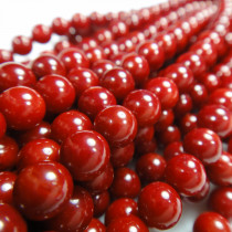 Red Coral 6mm Round Beads