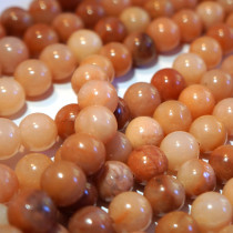 Dark Pink Aventurine 8mm Round Beads