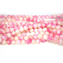 Dyed Jade Pink Multicolour 6mm Round Beads
