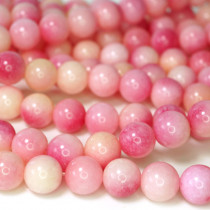 Dyed Jade Pink Multicolour 8mm Round Beads