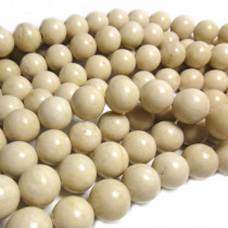 Fossil Stone 10mm Round Beads