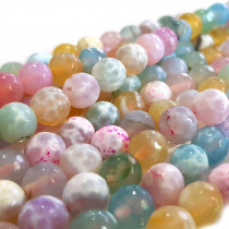 Fire Agate Pastel Colour 8mm Beads