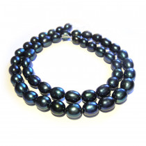 Natural Freshwater Rice Pearl Peacock 7-8mm Beads