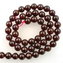 Garnet Stone Round 8mm beads