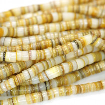 4-5mm Gold Lip Shell Heishi Beads