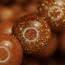 Goldstone 8mm Round Beads