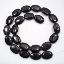 Blue Goldstone 13x18mm Oval Beads