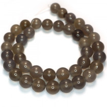 Grey Agate 10mm Round Beads