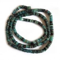 4-5mm Green Hammer Shell Heishi Beads